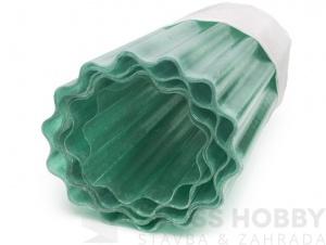 Sklolaminátová vlnitá role Guttagliss PES - zelená