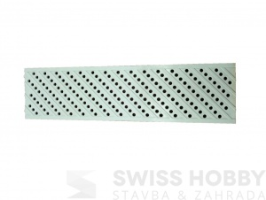 Bazénová mříž pro žlab Dacota – šedá (130 x 500 x 20 mm)