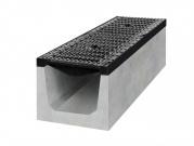 Betonový žlab D400 s litinovou mříží