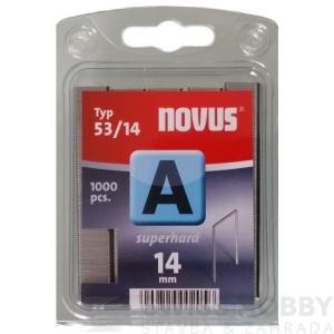 "Spony ""A"" NOVUS typ 53/ 14 mm super tvrdé /1000 ks"
