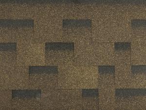 Hnědý asfaltový šindel samolepící Guttatec Topglass Irregular , záruka 30 let