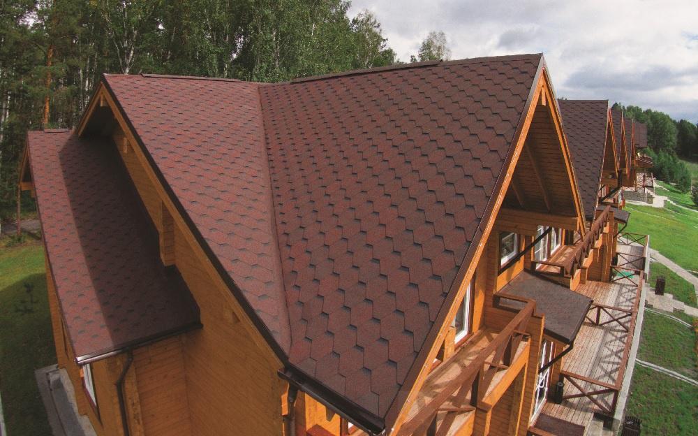 střecha asfaltový šindel červený s 5ti letou zárukou