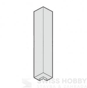 Spojka - vnější roh DecoFOAM P6073 - bílá 003