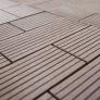 Terasová dlažba WPC Guttadeck tmavě hnědá - detail