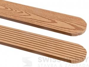 WPC plotovka Guttafence drážkovaná oblá, origina wood