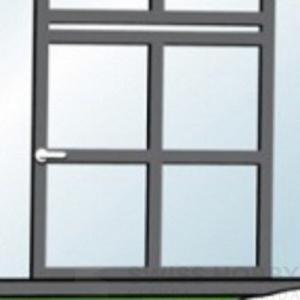 Spodní díl dveří Gardentec Classic konstrukce dveří