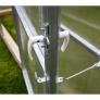 Zahradní skleník z polykarbonátu Gardentec Herbus - detail zajištění dveří