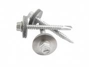 Střešní šroub nerez A2 bimetal s podložkou 5,5 x 50 mm stříbrná