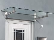 Vchodová stříška Guttavordach HD 160x100 cm nerez