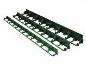 Neviditelný plastový obrubník 45 mm - zelený
