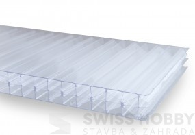 Polykarbonátové desky DUAL STRONG 6W 20 mm - 6 x 2,1 m, čirá