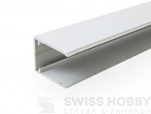 Ukončovací profil ALU-U EASY CLICK 16 mm - 4 m, stříbrná