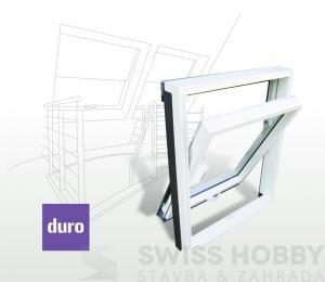 Plastové střešní okno DURO - 78x118 cm
