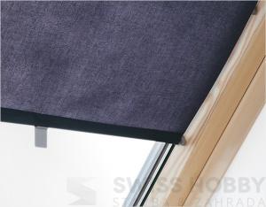 Roleta zastiňující - 55x78/98 cm, tmavě modrá
