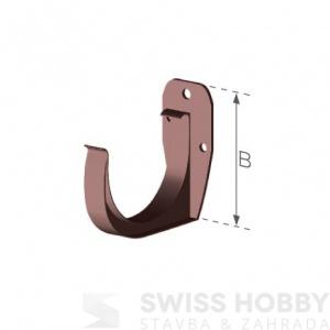 Plastový žlabový hák - 75 mm
