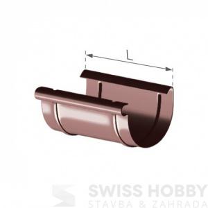 Spojka plastového žlabu - 75 mm