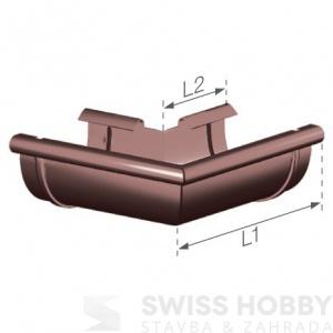 Plastový žlabový vnější roh - 125 mm