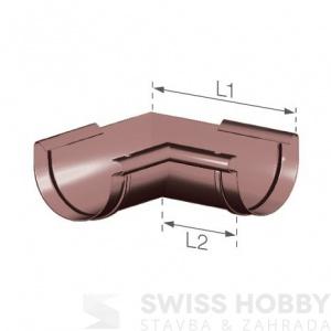 Plastový žlabový vnitřní roh - 125 mm